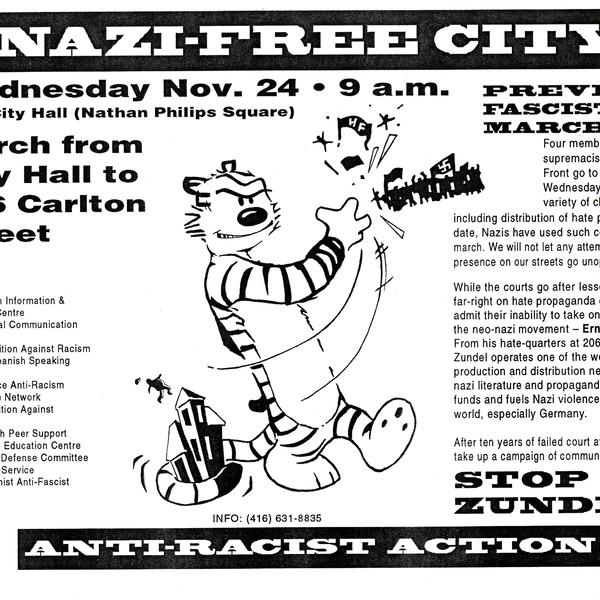 Nazi-Free City March Poster
