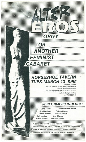 Alter Eros Orgy or Another Feminist Cabaret