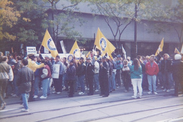 Steelworkers at the Metro Days of Action rally