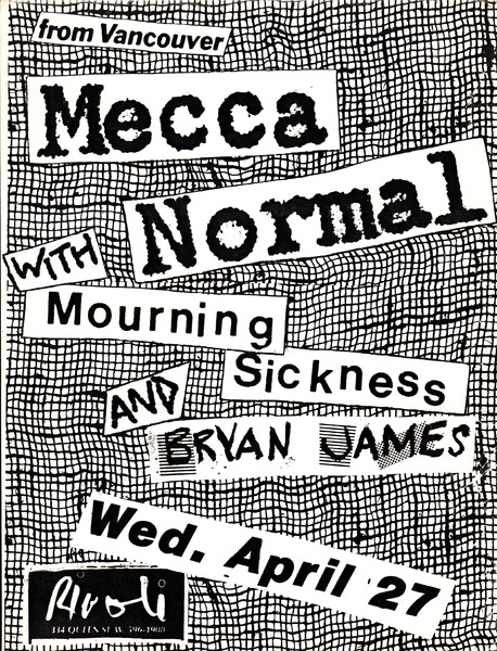 Mecca Normal, Mourning Sickness and Bryan James poster