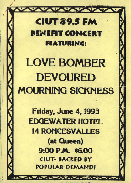 Mourning Sickness - Edgewater Handbill