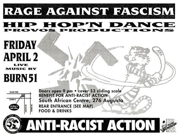 Rage Against Fascism Hip Hop'n Dance benefit