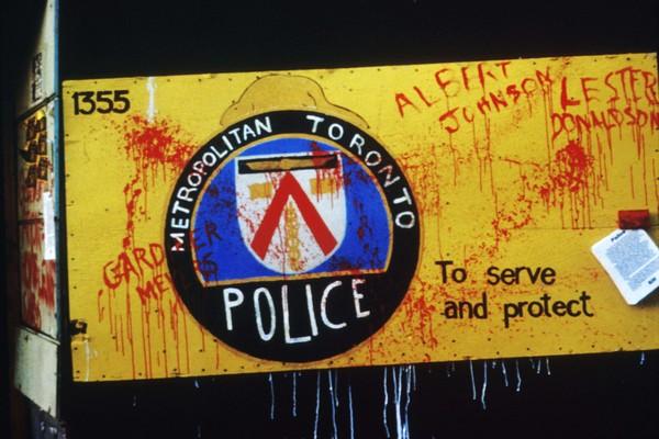 Anti-police billboard