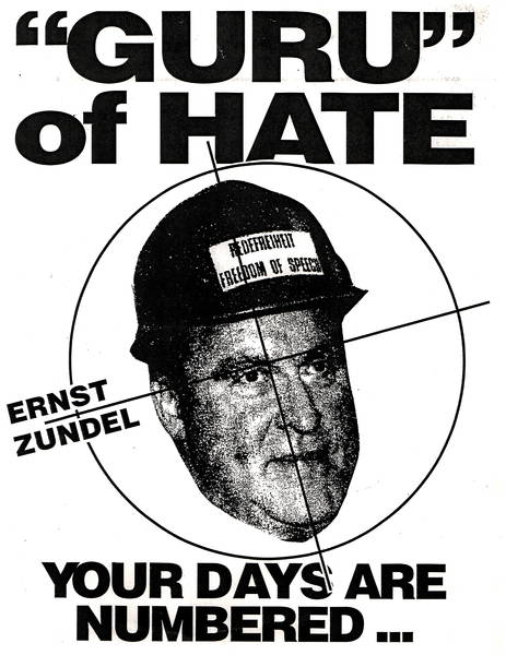 Guru of Hate Anti- Ernst Zundel Poster