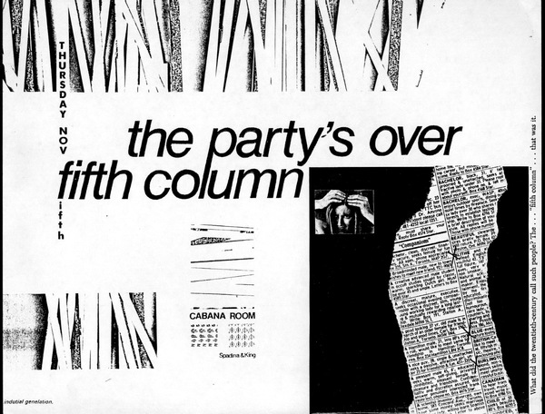 Fifth Column and The Party's Over poster