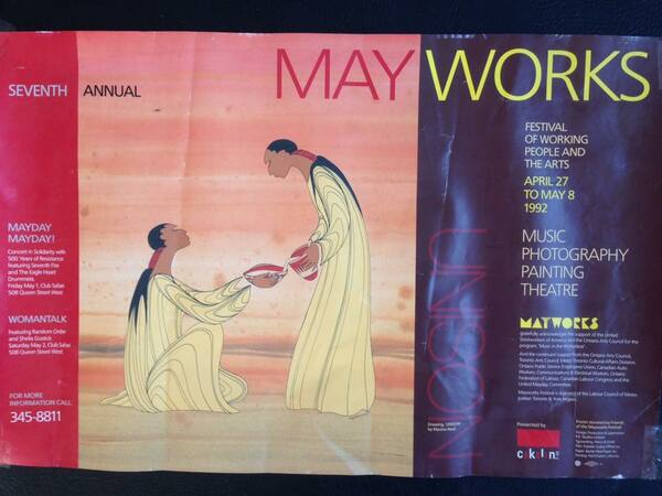 Mayworks Poster featuring Random Order & Sheila Gostick