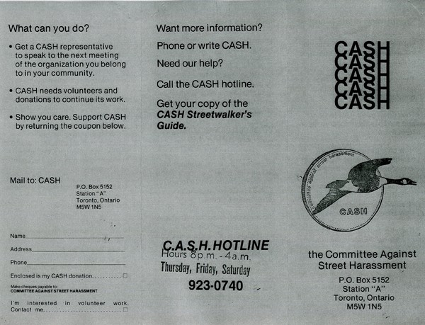 Committee Against Street Harassment (C.A.S.H.) Pamphlet