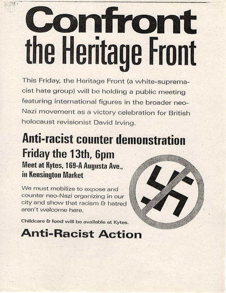 Confront The Heritage Front poster