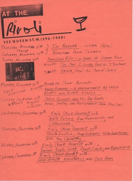 9 Days At The Rivoli, 1984 Style