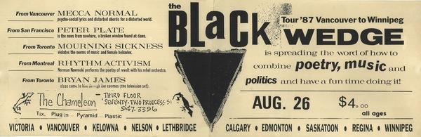 Black Wedge tour poster: Winnipeg